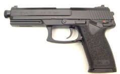The MK23 Mod 0 .45 SOCOM handgun was developed by H&K specifically for U.S. Special Operations Command, and in 1996 was adopted as a service pistol under the designation MK23 Mod 0. It has excellent potency and accuracy, but the tradeoff is that it is larger, heavier, and less wieldy than the Sig Sauer P226 or P228. The MK23 gives shooters match-grade accuracy, and also exceeds the most stringent operational requirements for a combat handgun.