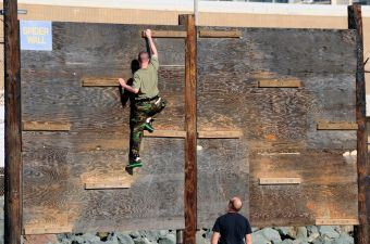 Navy SEAL water obstacle course
