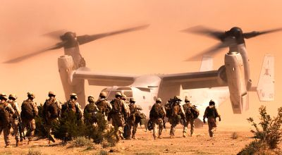 Watch: Marines prove the Osprey's capabilities for embassy-rescue training missions