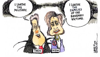Loathing the military is a common Clinton family trait