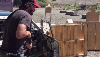Keanu Reeves tearing it up on the range