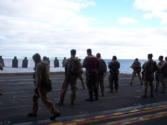 Daily live fire qual USS BATAAN flight deck in the Med 2007