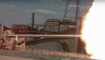 Watch: U.S. Navy's New Supergun, Dispensing Freedom!