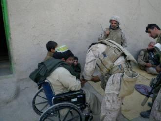 SARC treating an Afghan amputee.