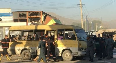 Suicide attack on minibus in Kabul kills at at least 14