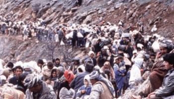 Kurdish refugees along Turkish border 1991 - Operation Provide Comfort