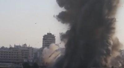 Watch: Rebel coalition tunnel bomb levels Assad regime command center