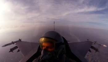 A night mission over Iraq in the F-16
