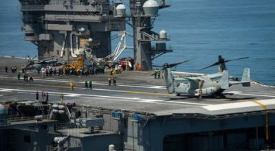 USS Carl Vinson Conducts MV-22 Integration Tests