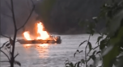 Watch: Smoke on the water! River ambush on Colombian Narco runners