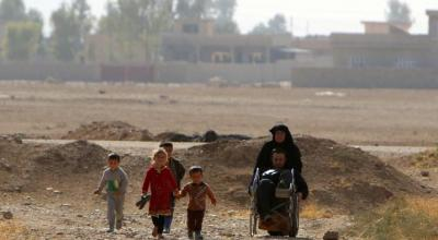 Iraqi in wheelchair makes risky escape from Islamic State