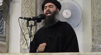 Recording of Abu Bakr al-Baghdadi, released after the Mosul offensive urging Islamic State fighters to not retreat