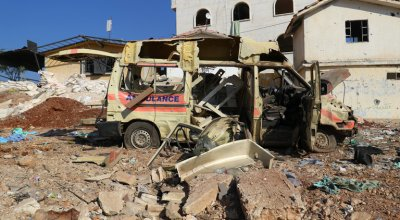 Life Is Turned 'Upside Down' as Jets Pound Rebel-Held Syrian Cities