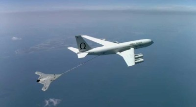 Watch: First ever drone refueling! US Navy X-47B