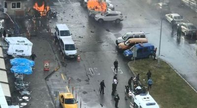 Watch: Video of the car bomb near the courthouse in Izmir, Turkey