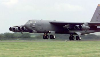 Air Force B-52 Engine Disintegrates - Falls Off in Flight
