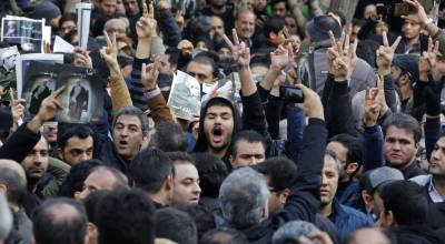 Iran's Opposition Protests Amid Mourning for Former President Rafsanjani