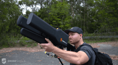 Drones have you worried? Get the DroneGun! Watch it in action