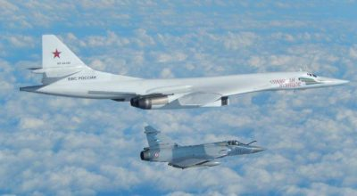 RAF and French jets intercept a pair of Russian Blackjack Bombers