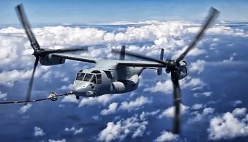 Watch: V-22 Osprey Mid-air Refueling! Must Watch Video