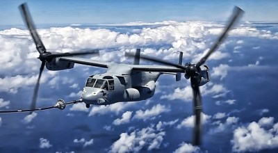 Watch: V-22 Osprey Mid-air refueling! Must watch video!