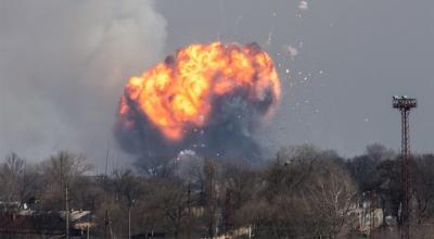 Watch: Ukrainian arms depot explodes in what officials call 'an act of sabotage'