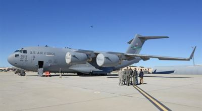 Air Force tests using drones for aircraft post flight inspection
