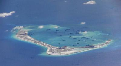 Man-made islands in the South China Sea nearing completion and ready for Chinese troops