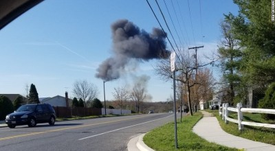 F-16 fighter jet crashes in Maryland