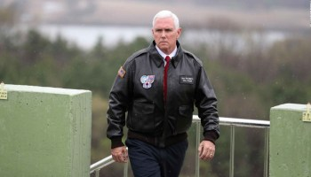 VP Pence delivers warning to Kim Jong Un from Korean DMZ