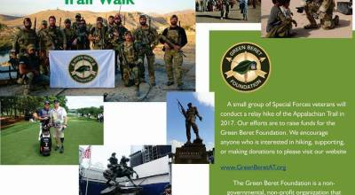 Green Beret Appalachian Trail Walk and Fundraiser- support the Regiment