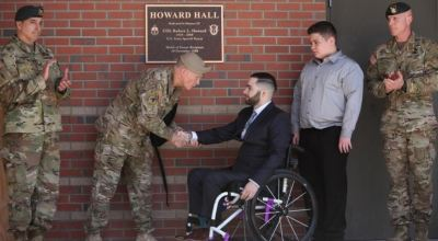 Special Forces Honor COL Bob Howard (MOH) With Building Dedication at Camp Mackall