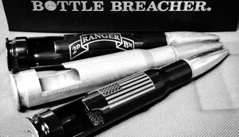 Open your beer with a .50 Cal Bottle Breacher