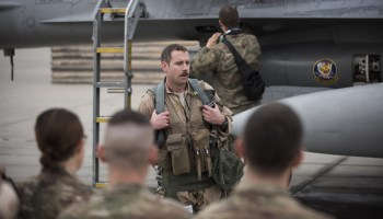 Honors for Lt Col Craig Andrle F-16 Pilot Logs 1000 Combat Flight Hours