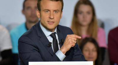 French presidential front-runner Macron urges military intervention in Syria