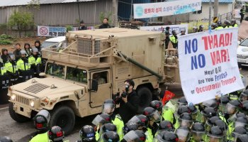 THAAD missile defense timeline moved up in South Korea, protests ensue as a result