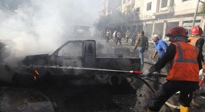 Thermite bombs reportedly dropped on civilian areas in two Syrian provinces