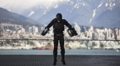 One step closer to being a superhero: British Marine flies like Iron Man in jet-powered suit