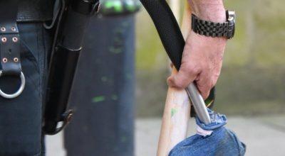 Updated: Man with an axe and baseball bat interrupts a Manchester vigil