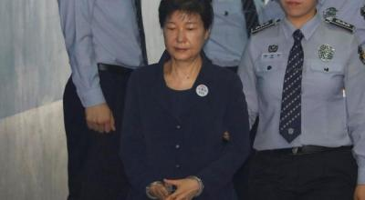South Korea's ex-leader Park makes first court appearance in corruption trial