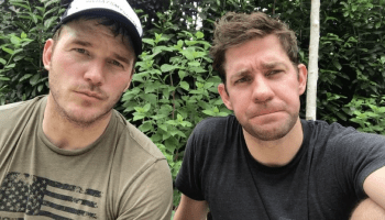 Chris Pratt and John Krasinski celebrate Memorial Day by completing the Murph Challenge
