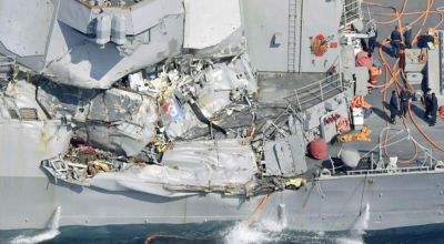 'A number of the missing Sailors' from the USS Fitzgerald found dead in the flooded compartments