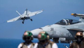 Picture of the Day: F/A-18E Super Hornet Launches from the USS George H.W. Bush CVN 77