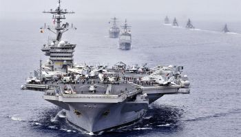 U.S joins India and Japan in large scale naval drills with sights set on China