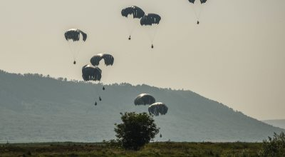 12 US paratroopers hospitalized after night jump in Romania