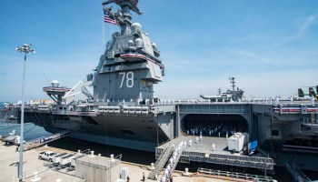 President Trump, SECDEF Mattis, oversee commissioning of America's newest super carrier: the USS Gerald R. Ford