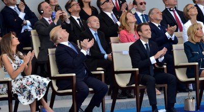 Tanks, troops, and Donald Trump — see photos from this year's Bastille Day in France
