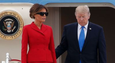 Trump Arrives in Paris for Bastille Day, CT Talks