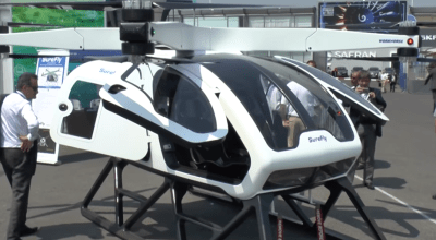 Watch: Workhorse Group's SureFly Personal Helicopter Shows Up at Paris Air Show