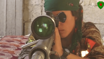 Watch: Female snipers with the YPG conduct combat operations against ISIS